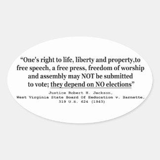 W Virginia Board Of Ed. v Barnett 319 US 624 1943 Oval Sticker