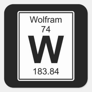 W - Volframio Pegatina Cuadrada