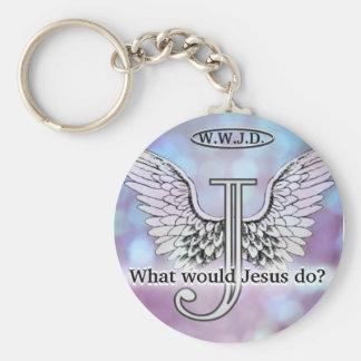 W.W.J.D What would Jesus do? Keychain