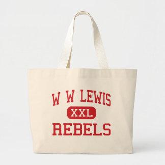 W W Lewis - Rebels - Middle - Sulphur Louisiana Large Tote Bag