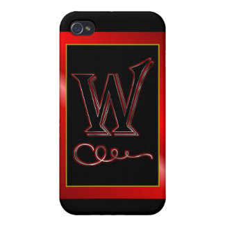 """""""W"""" w Monogram Letter W Initial surname christian iPhone 4/4S Covers"""