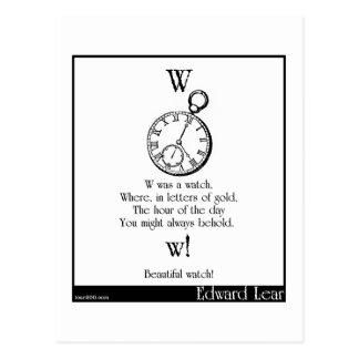 W was a watch postcard