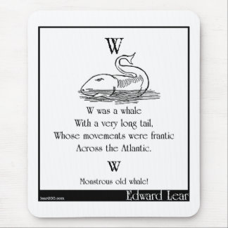 W was a whale mouse pad