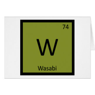 Chemistry cards zazzle - Tungsten symbol periodic table ...
