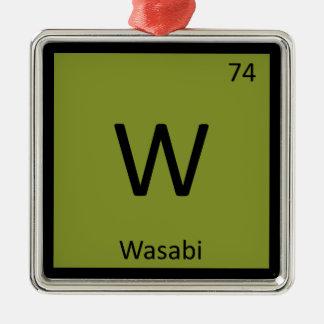 W - Wasabi Chemistry Periodic Table Symbol Ornament