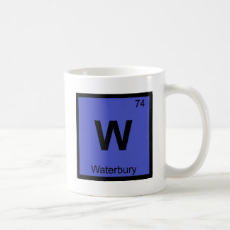 W - Waterbury Connecticut Chemistry Periodic Table Coffee Mug