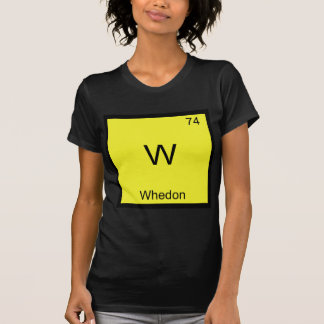 W - Whedon Funny Chemistry Element Symbol T-Shirt