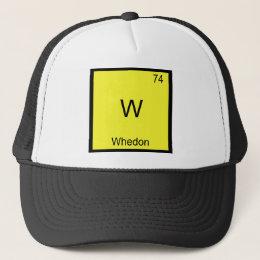 W - Whedon Funny Chemistry Element Symbol T-Shirt Trucker Hat