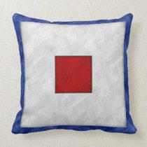 W Whiskey Watercolor Nautical Signal Maritime Flag Throw Pillow