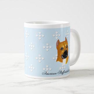 ~ w/White azul Diam de Staffordshire Terrier ameri Taza Grande