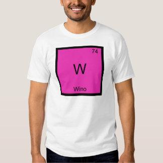 W - Wino Funny Wine Chemistry Element Symbol Tee