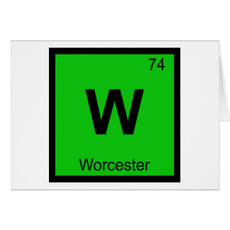 W - Worcester Massachusetts Chemistry Symbol Card