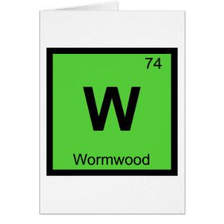 W - Wormwood Chemistry Periodic Table Symbol Card