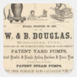 W y B Douglas Pegatina Cuadradas Personalizadas