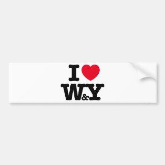 W&Y CAR BUMPER STICKER
