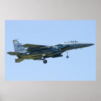 WA AF 90-0262 F-15E Strike Eagle Approach Poster