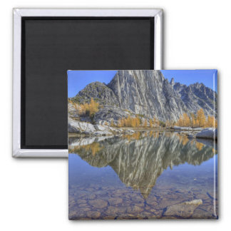 WA, Alpine Lakes Wilderness, Enchantment 2 Inch Square Magnet