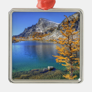 WA, Alpine Lakes Wilderness, Enchantment 4 Metal Ornament