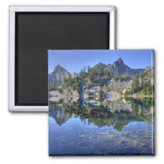 WA, Alpine Lakes Wilderness, Gem Lake, with 2 2 Inch Square Magnet
