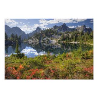 WA, Alpine Lakes Wilderness, Gem Lake, with 2 Photograph