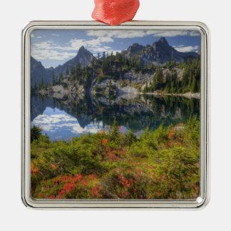 WA, Alpine Lakes Wilderness, Gem Lake, with Metal Ornament