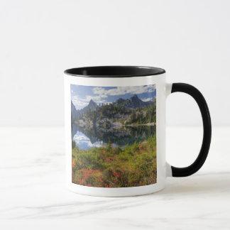 WA, Alpine Lakes Wilderness, Gem Lake, with Mug