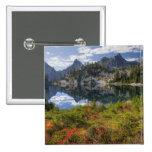 WA, Alpine Lakes Wilderness, Gem Lake, with Pinback Button