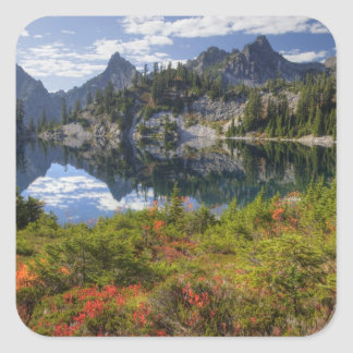 WA, Alpine Lakes Wilderness, Gem Lake, with Square Sticker