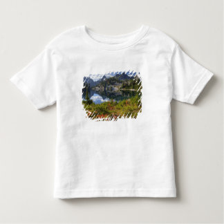 WA, Alpine Lakes Wilderness, Gem Lake, with Toddler T-shirt
