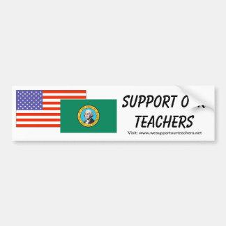 WA -- Apoye a nuestros profesores Etiqueta De Parachoque