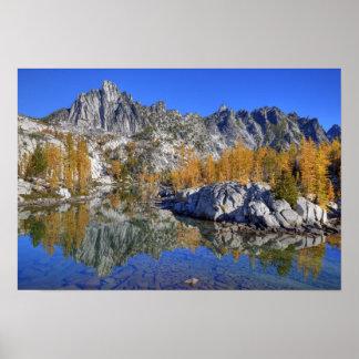 WA, desierto alpino de los lagos, encantamiento 7 Poster