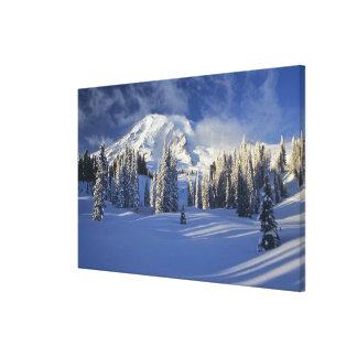 WA, el Monte Rainier NP, el Monte Rainier y paraís Impresión En Lona Estirada