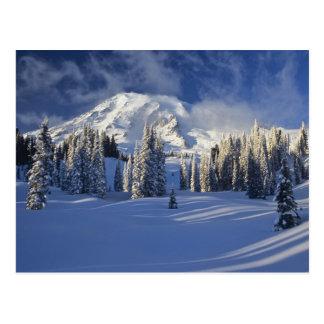 WA, el Monte Rainier NP, el Monte Rainier y Tarjetas Postales