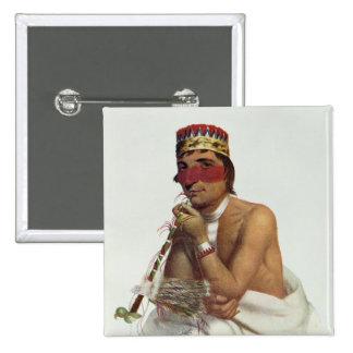 Wa-Em-Boesh-Kaa, a Chippeway Chief 2 Inch Square Button