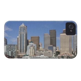 WA, horizonte de Seattle, Seattle con el transbord iPhone 4 Case-Mate Cárcasa