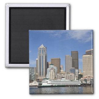 WA, horizonte de Seattle, Seattle con el transbord Imán Cuadrado