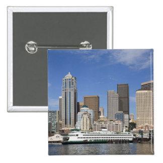 WA, horizonte de Seattle, Seattle con el transbord Pin
