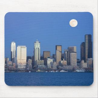 WA, horizonte de Seattle, Seattle y bahía 2 de Ell Alfombrilla De Ratón