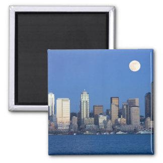 WA, horizonte de Seattle, Seattle y bahía 2 de Ell Imán Cuadrado