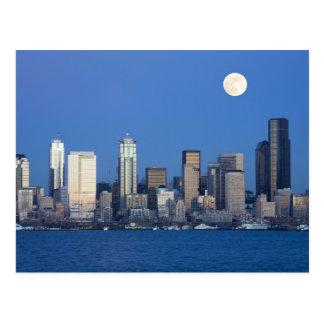 WA, horizonte de Seattle, Seattle y bahía 2 de Ell Tarjetas Postales