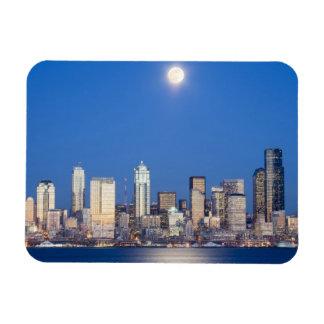 WA, horizonte de Seattle, Seattle y bahía 3 de Ell Imán