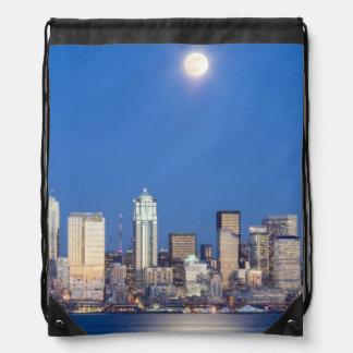 WA, horizonte de Seattle, Seattle y bahía 3 de Ell Mochilas