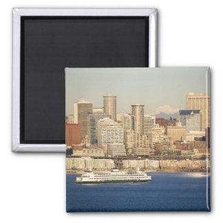 WA, horizonte de Seattle, Seattle y Elliott aúllan Imán Cuadrado