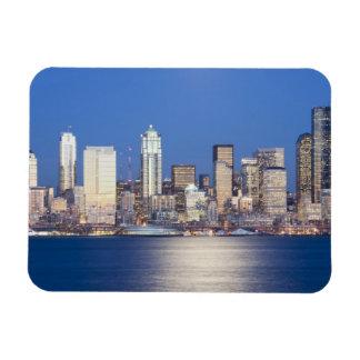 WA, horizonte de Seattle, Seattle y Elliott aúllan Imanes Flexibles