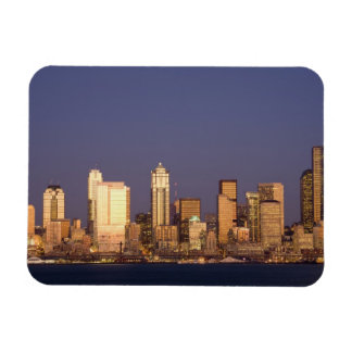 WA, horizonte de Seattle, Seattle y Elliott aúllan Imán