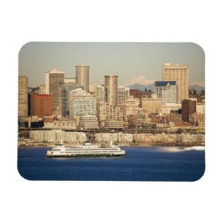 WA, horizonte de Seattle, Seattle y Elliott aúllan Imán Flexible
