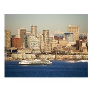 WA, horizonte de Seattle, Seattle y Elliott aúllan Tarjetas Postales