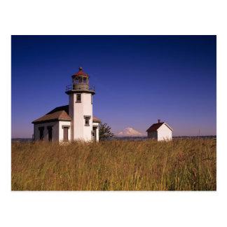 WA, isla de Maury, faro de Robinson del punto, Tarjetas Postales