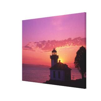WA, isla de San Juan, horno de cal Lighthouse, 191 Impresión En Lona
