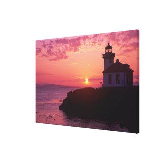 WA, isla de San Juan, horno de cal Lighthouse, 191 Impresion En Lona